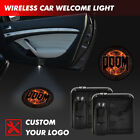 DOOM PC Logo Auto Car Door Step Led Courtesy Laser Projector Ghost Shadow Light