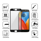 For Motorola E4 Plus FULL COVER 9H Tempered Glass Screen Protector Black 0.26mm