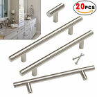20 Pack Brushed Nickel Cabinet Pulls Stainless Steel Drawer T Bar Handles 2