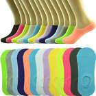 3-12 Pairs Womens Ankle Boat Liner Invisible No Show Low Cut Solid Cotton Socks