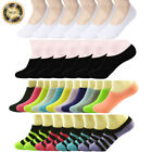 Внешний вид - 3-12 Pairs Womens Ankle Boat Liner Invisible No Show Low Cut Solid Cotton Socks