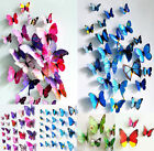 12pcs 3d butterfly decor colorful wall stickers decals crystal hot sale new room