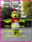 Green Bear Mascot Costume Suit Cartoon Cosplay Party Fancy Dress Outfit Adults @