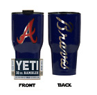 (YETI) Atlanta Braves (Laser Engraved 30 oz)Powder Coat NO VINYL on Ebay