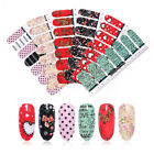 2 Sheets/Bag Nail Wraps Flowers Heart Mixed Size Adhesive Full 3D Nail Decals