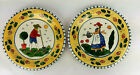 2 Decorative Plates Set French Country Sudi's Garden Andrea by Sadek Farmhouse