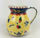Ceramic Pitcher French Country Sudi's Garden Andrea by Sadek Farmhouse Yellow