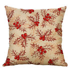 "18"" Christmas Deer Throw Pillow Cover Square Cushion Covers Sofa Home Décor"