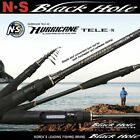 NS RODS BLACK HOLE TELESCOPIC SPINNING LURE ROD HURRICANE TELE-N