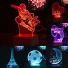 3D LED illusion Spider-Man USB 7-Colors Changing Table Night Light Bedroom Lamp
