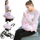 Car Seat Canopy Nursing Cover - Multi Use Baby Stroller And Carseat Cover, Breas
