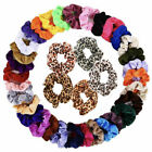 Pack of 5/10pcs Velvet Hair Scrunchies Elastic Scrunchy Ponytail Hair Tie Rope