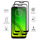 For Motorola Moto G7 Power FULL COVER Tempered Glass Screen Protector Ultra Thin