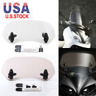 US Adjustable Windscreen Extension Spoiler Wind Deflector for Kawasaki Ducati