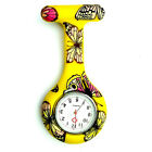 Butterfly Silicone Nurse Watch Round Tunic Brooch Fob Quartz Pocket Watches