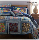 3PCS Country Floral 100% COTTON Patchwork Quilt Coverlet Bedspread KING Set image