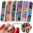 Mixed Color Round Nail Glitter Flakes 3D Sequins Powder Nail Art Decoration Tool