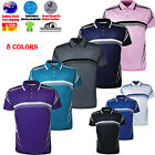 MENS POLO SHIRT COOL DRY BREATHABLE SUBLIMATED GRADATED POLO T SHIRT Golf LUXURY