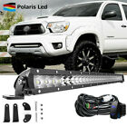 """Silm 30"""" LED Light Bar Combo Lower Bumper w/ Wirings For 2005-2015 Toyota Tacoma"""
