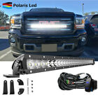 """30"""" 150W LED Light Bar Spot Flood Combo Behind Grille +Wire For 14-18 GMC Sierra"""