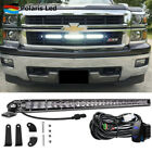 """30"""" LED Light Bar Combo Behind Grille Offroad Lamp w/ Wire For 14-18 GMC Sierra"""