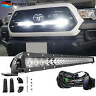 """30"""" Single Row LED Light Bar Behind Grille Mounting+Wire Fit 16-up Toyota Tacoma"""