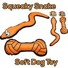 Squeaky Snake Dog Puppy Play Toy Eyes Orange Premium NEW || OR || Soft Bone