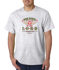 USA Made Bayside T-shirt Christian Soldier In Army Of Lord