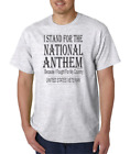 USA Made Bayside T-shirt United States Veteran Stand For National Anthem