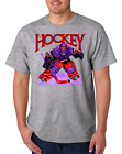 Gildan Short Sleeve T-shirt Sports Hockey Player Goal Goalie Design 1