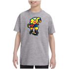 Youth Kids T-shirt Hockey Player k-644