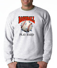 Gildan Long Sleeve T-shirt Sports Baseball Play Hard