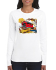 Gildan Long Sleeve T-shirt Country Covered Bridge Fall Autumn Scene
