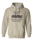 Gildan Hoodie Pullover Sweatshirt All Care About Is Hunting Maybe 3 People