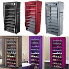 Kyпить NEW 10 Tier Shoe Rack Cabinet 30 Pairs with Cover Wall Bench Shelf Shoe Tower на еВаy.соm