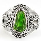 Chrome Diopside Rough 925 Sterling Silver Handmade Ring Jewelry s.7 SDR29481