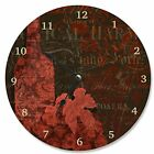 Stupell Home Decor Damask Wine Vanity Clock, 12 x 0.4 x 12, Proudly Made in USA