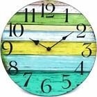 14 Silent Non Ticking Wall Clock, Retro Wooden Decorative Round Wall Clock