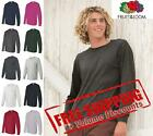 Fruit of the Loom Mens Blank HD Cotton Long Sleeve T Shirt 4930R up to 3XL image