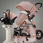 Foldable Upgrade 3 in1 Luxury Baby Stroller HighLandscape Pram Pushchair CarSeat