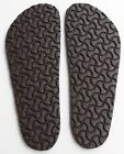 "BIRKENSTOCK EVA Full Soles Black Brown Resole Replacement 12.5 x 4.5"" Germany"