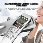 3 Colors Wall Mount Desk Top Corded Home Phone Landline Telephone and Caller ID