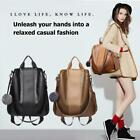 Women Backpack Casual Anti-theft PU Leather Rucksack Travel Shoulder School Bag