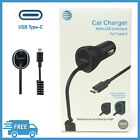 Original AT&T USB Type C Car Charger with Extra USB Port - BRAND NEW !