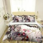 3D Inuyasha Blooming Flowe A25 Japan Anime Bed Pillowcases Quilt Duvet Cover Zoe