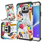 For Samsung galaxy note 5 Phone Case Rubber Sturdy Cover + Tempered Glass