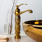 Bathroom Faucet Luxury Gold Deck Mounted Single Handle Sink Mixers Tap