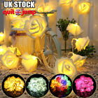 10/20leds Rose Flower Led String Fairy Lights Wedding Birthday Party Home Decor