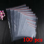 Adhesive PE Pouch Packaging Poly Clear Plastic Bag Jewelry Zip Bags