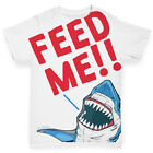 Ink Rocks Feed Me Shark Baby Toddler T-Shirt Boy Girl Funny Tee
